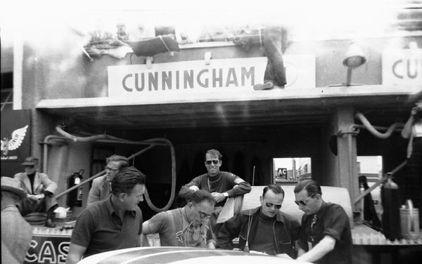 The 1952 LeMans pit when John Fitch drove there for Briggs Cunningham. (J. Frederick Smith, Photos courtesy of Sean A. Smith)