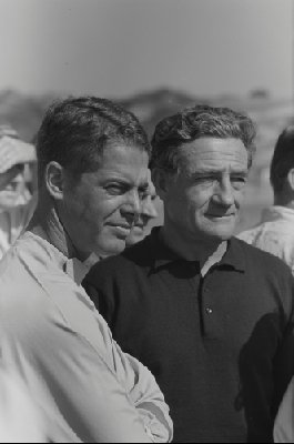 USAC Pacific Grand Prix, 1962. Augie Pabst and Briggs Cunningham (Photo credit: William Hewitt Photograph Collection, Revs Institute)