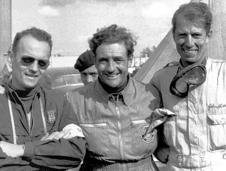 Phil Walters, Briggs Cunningham and John Fitch at Le Mans.
