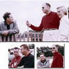Photo at top is of Briggs Cunningham, Harley Earl and his daughter-in-law, Constance Earl. Photo, above left, is of Dick Thompson and Jerry Earl who both raced the Corvette SR-2 on this day at the Elkhart Lake race in 1957. Picture above, at right, is another one of Cunningham and Earl.
