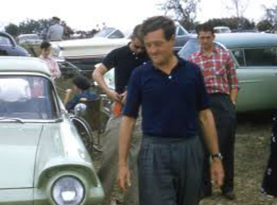 """Briggs Cunningham himself leaves his Ford rental. Source: <a href=""""http://www.barcboys.com"""">http://www.barcboys.com</a>"""