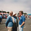 Cunningham at Monterey 1986; (L to R) John Gordon Bennet, BSC (hat), Bob Williams (sunglasses) (Photo credit: Larry Pfitzenmaier)