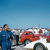 Briggs Cunningham, Mr. C to his friends, owned and raced Jaguars, Ferraris, Corvettes, Listers, OSCAs and Abarths, but he is most revered for constructing and fielding teams in the 1950s with Cadillac and Chrysler Hemi-powered Cunningham sports cars. His goal was to win the 24 Hours of Le Mans in an American car with American drivers. Even though he never achieved that goal, his team did amass an impressive list of wins at Sebring, Elkhart Lake, Bridgehampton and other venues. His drivers were the best America had to offer: Dan Gurney, Sam and Miles Collier, Sherwood Johnston, but the drivers most closely associated with Mr. C's team were John Fitch, Phil Walters, Walt Hansgen and himself. Photo courtesy of Gene Bussian. Source: Nigel Smuckatelli on Flickr