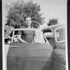 """Lockbourne, IL, 1956. Briggs Cunningham and his Bentley he drove to the races. Source: <a href=""""http://www.jimhayes.com/Wolery/album.html"""">http://www.jimhayes.com/Wolery/album.html</a>."""