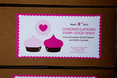 The first 200 couples in line to file their same-sex marriage applications will get free treats from Hello Cupcake. According to a press release, each couple is promised a box including Hello Cupcakes signature chocolate and vanilla flavors, offering congratulations and good wishes.