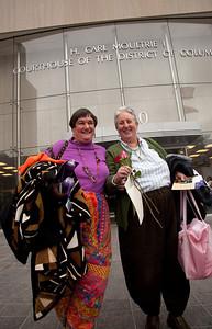 Barbara Bustard-Burnside (L) and her partner Carol Bustard-Burnside (R) were 14th to file an application