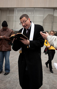 Rev. Rob Schenck of Faith and Action in the Nation's Capital, who believes marriage should be between a man and a woman reads supporting passages from the King James Bible
