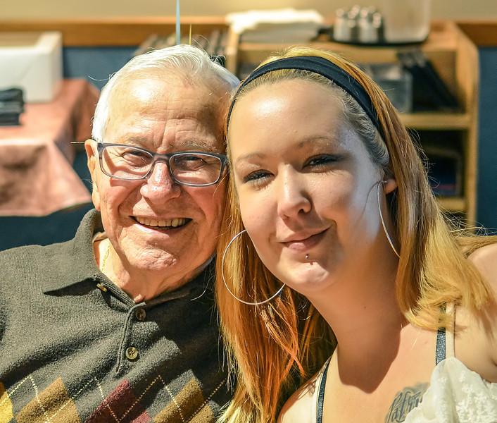 Fred & Kristin (his granddaughter)