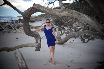 Danielle modeling at Big Talbot Island.  Photography by John Shippee Photography, hair, makeup, and outfit by Danielle.