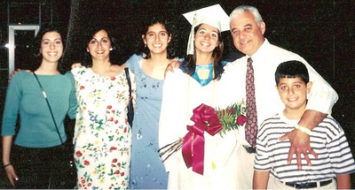 Assily family at Lara's high school graduation in 1999.