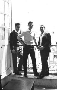 Abe Assily, center, with friends at St. John Baptiste-de-LaSalle High School in Jerusalem around 1961.