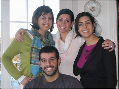 Abe Assily's children: Standing, from left, Rania, Lara and Lani; seated, Joseph.