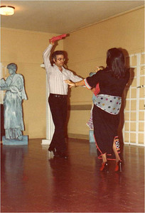 Abe Assily and his wife, Laila, put on a belly-dancing performance for the Elyria Rotary Club in the 1980s.