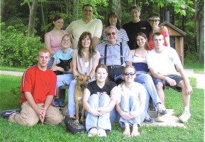 Amos Campbell is surrounded by family in the Medina County Metroparks six years ago.