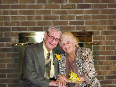 Amos and Florence Campell on their wedding day in April 2008.