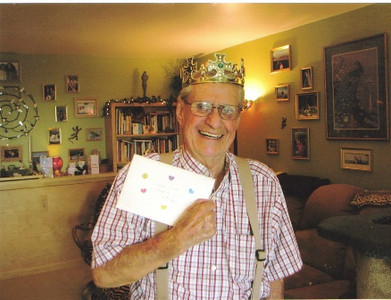"""Amos Campbell is """"King for a Day"""" on Father's Day two years ago."""