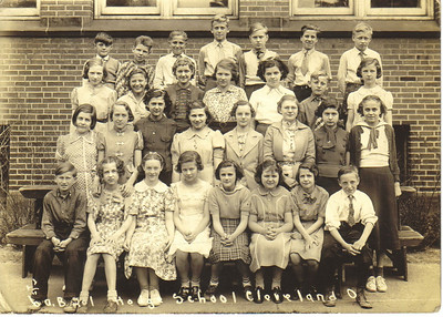 Ann Ivka, second row, third from the left, and classmates at Hodge School in Cleveland in the 1930s.