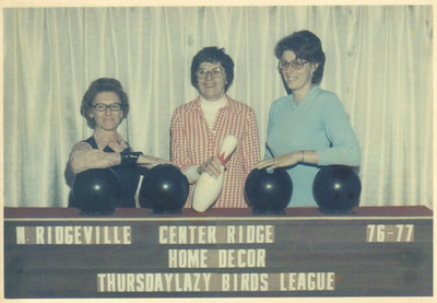 Ann Brand, center, pictured with her cousin-by-marriage Lois Brand, left, and her daughter, Kathy, right, in the late 1970s. She was a topnotch bowler in the 1970s and '80s.