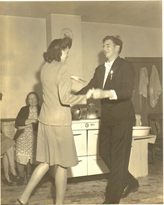 Ann and Jacob Brand jitterbug in Ann's mother's kitchen in Avon in the 1940s.