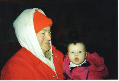 Avery WIlcox Sr. with his great-granddaughter Abigail in 2000. (Photo courtesy of the family.)