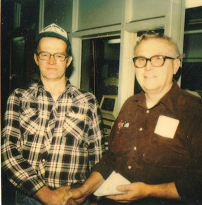 Avery WIlcox Sr., left, with a colleague at Pfaudler Co. (Photo courtesy of the family.)
