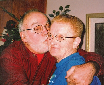 """Dick and Barb Baldwin have a """"public display of affection"""" moment preserved for posterity."""