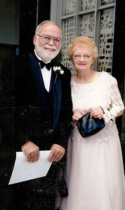 Dick and Barb Baldwin at their son Rob's wedding in 1998.