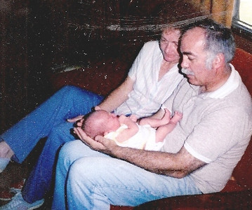 Barb and Dick Baldwin are mesmerized by their firstborn grandchild, Rebecca, in 1982.
