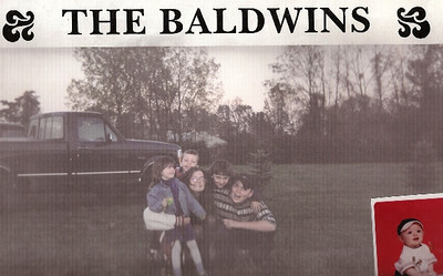 Here are Barb Baldwins grandchildren. The baby in the corner was born after the larger photo was taken.