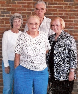 Barb Baldwin, front and center, with her siblings, from the left, Margaret Testa, Michael Shea and Eileen Eusanio.