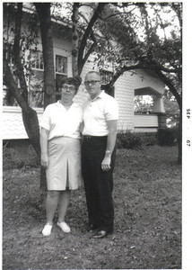 June and Bernie O'Donnell are pictured in 1967 at their home on Gulf Road, Elyria, where they lived for more than 50 years.