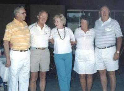 The O'Donnell siblings at a family reunion in 1987, from the left, in order of birth: Ed, Bernie, Bernice Penelli, Rosemary Kelleher and Bob. Not pictured is the eldest of the siblings, Alfie, who had died three years before this picture was taken.