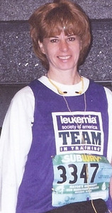 Carol Fankhauser went to Anchorage, Alaska, in 1999 to participate with the Leukemia Society of America's Team in Training in a 26.2-mile fundraising walk.