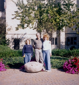 The Fankhausers: From left, Heather, Larry and Carol.