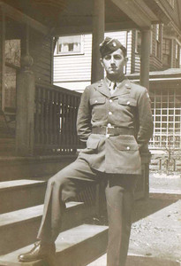 Charles E. Kurtz, pictured in front of his home at 1267 Lakeland Ave., Lakewood, earned the Silver Star for valor while serving in the Army with the 134th Infantry Regment of the 35th Infantry Division during World War II.