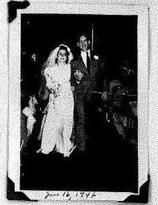 """Emily """"Lou"""" and Chet Hogan were married June 16, 1946. (Provided by the family.)"""