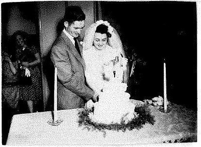 """Chet Hogan married Emily """"Lou"""" Paeth on June 16, 1946. (Provided by the family.)"""