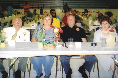 From the left: Clarence Talcott, his daughter Joan Lamenskie, her husband, Joe, and Clarence's ex-wife, Kathleen. (Photo courtesy of the family.)