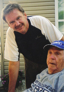 Lance Talcott and his father, Clarence. (Photo courtesy of the family.)