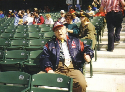 Clarence Talcott had season tickets to Cleveland Indians home games. (Photo courtesy of the family.)