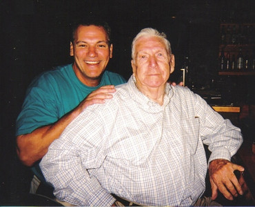 Clarence Talcott had the opportunity to meet former Cleveland Indians player Joe Charboneau. (Photo courtesy of the family.)