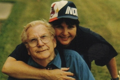 Clarence Talcott and his daughter, Maureen Stipe. (Photo courtesy of the family.)