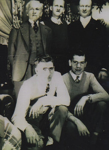 Some of the Talcott men in the 1940s: From left, first row: Clarence and his younger brother Cliff; Back row: Clarence's father, Henry Day Talcott, brother-in-law Al Patricy and older brother Henry. (Photo courtesy of the family.)