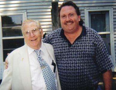 Clarence Talcott and his son Craig. (Photo courtesy of the family.)