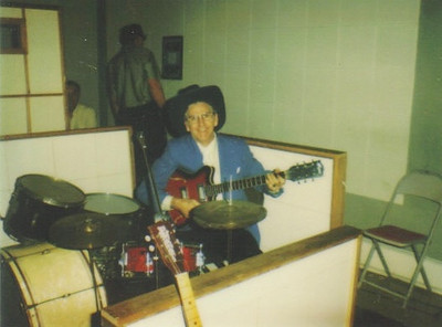 Clarence Talcott played guitar since he was a youngster. (Photo courtesy of the family.)