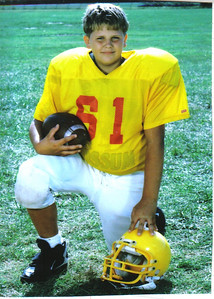 Craig Behrend suffered foot injuries while playing football at Learwood Middle School that cut his athletic career short.