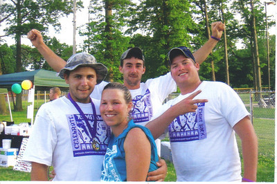 Craig's Army of Hope team at the 2008 Relay for Life, from the left, are Craig Behrend, Casie Behren, Pat Evans and Brandon Baker.