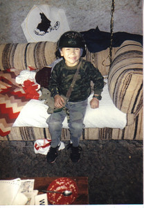 Craig Behrend , 4, dressed up as G. I. Joe on many Halloweens, including this one in 1988.