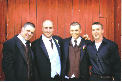 Craig Behrend was part of the wedding party when his friend, Josh Burckhardt, got married Sept. 5, 2009. Pictured, from the left, are Artie Haughey, Josh, Craig and Aaron Warrington.