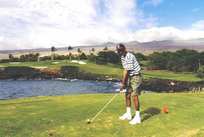 D.C. Patel, golfing in Hawaii in 1998.